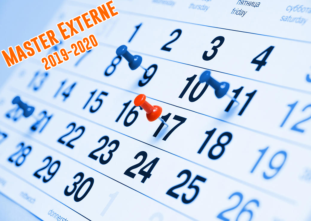 Calendrier Master Externe