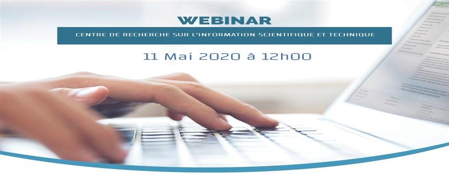 Webinar (Elsevier ) le 11 Mai 2020 à 12h00