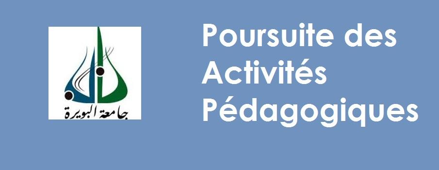 Poursuite des Activités Pédagogiques
